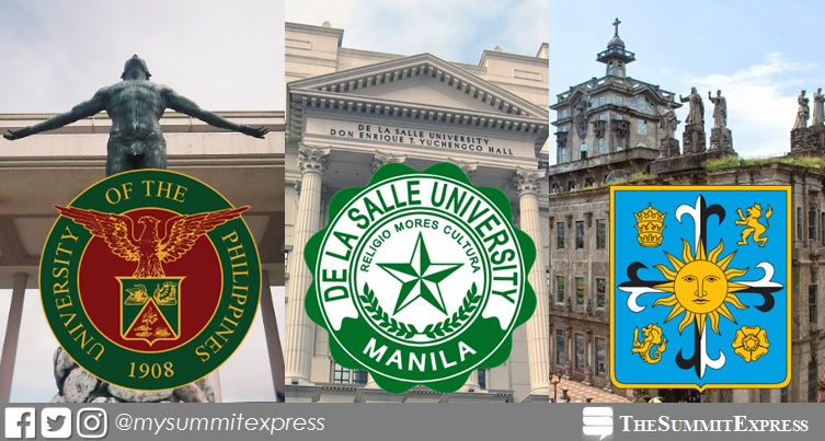 top schools Philippines - UP, DLSU, ADMU