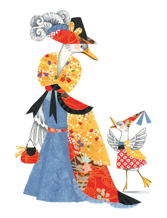 Collage Duck children's illustration