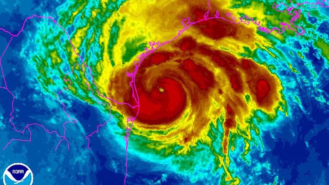 furacao harvey satelite meteorologico