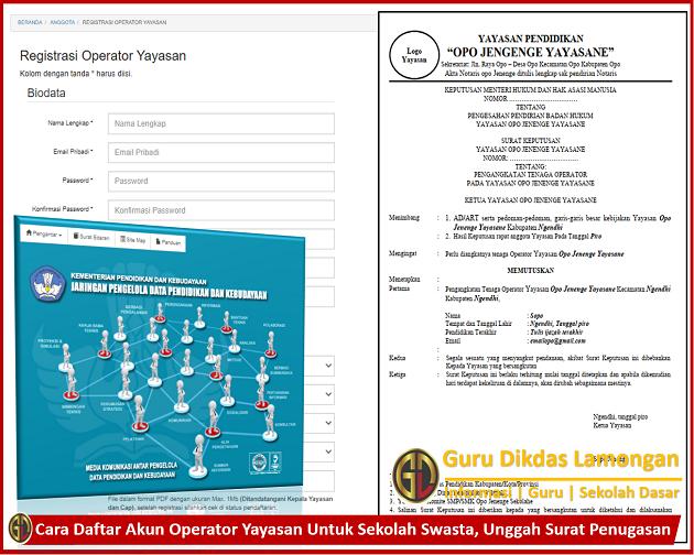 Cara Daftar Akun Operator Yayasan Untuk Sekolah Swasta, Unggah Surat Penugasan