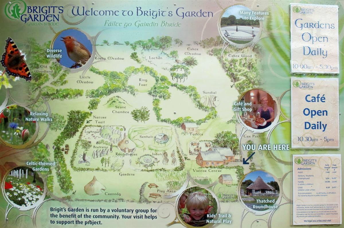 image of the map of  Brigit's Garden  © Annie Japaud Photography