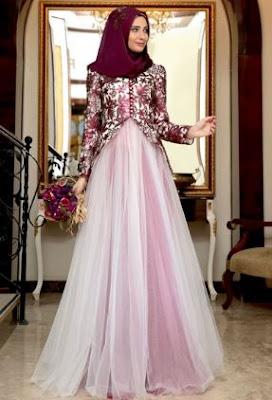 Inspirasi gaun pesta untuk remaja muslim
