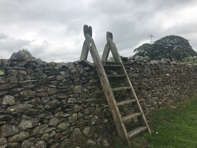 Cumbrian ladder stile on Dales Way