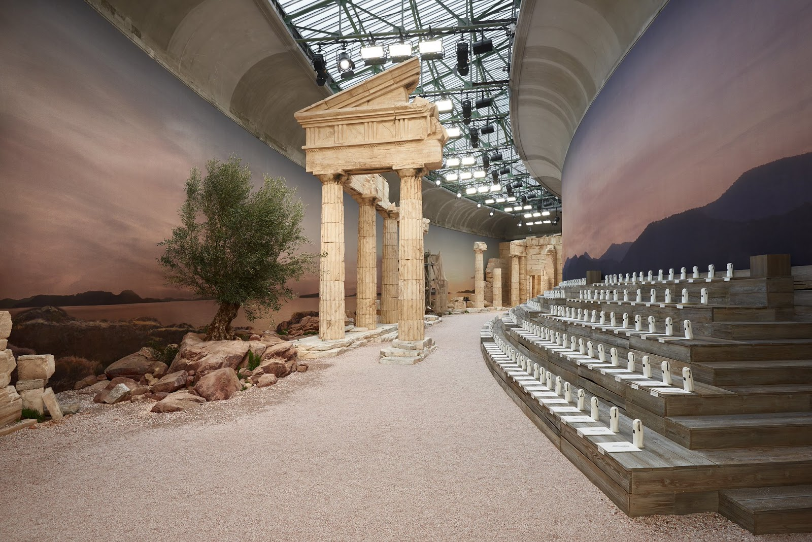 The set of the Chanel Cruise 2018