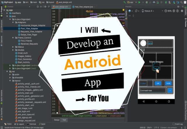 Develop an android app or will be your android app developer - Mobile Apps - mobile apps development