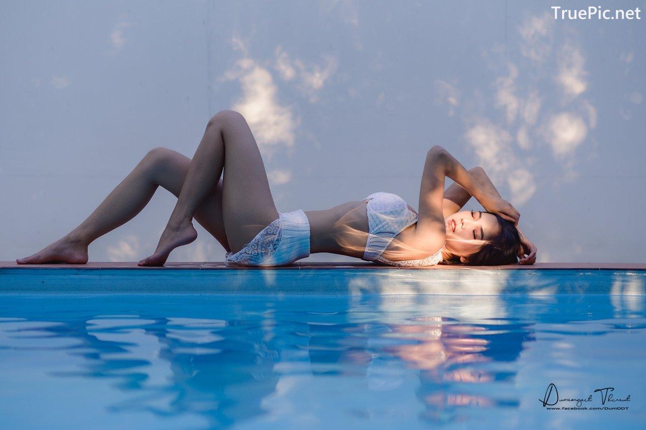 Image Thailand Model - Phitchamol Srijantanet - White Crochet Bikini - TruePic.net - Picture-6