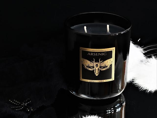 arsenic kringle candle, avis bougie kringle, bougie à la cire de soja, kringle black line collection