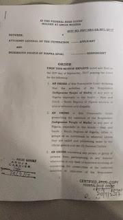 Court Declares IPOB a Terror Group