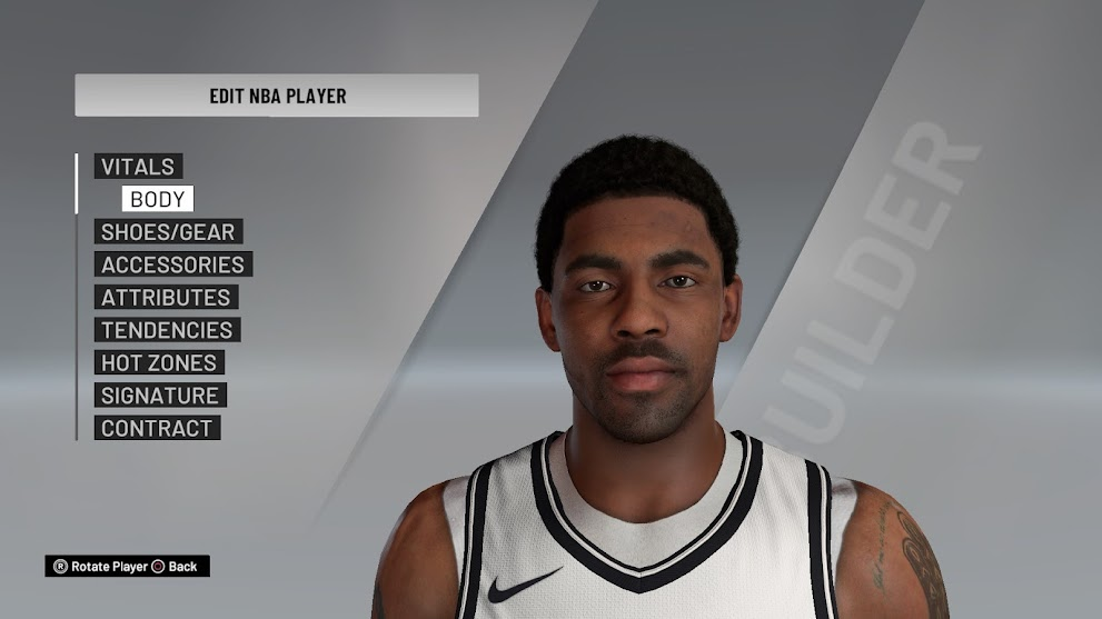 Kyrie Irving Cyberface Current Look with undershirt by Fredericko [FOR 2K21]
