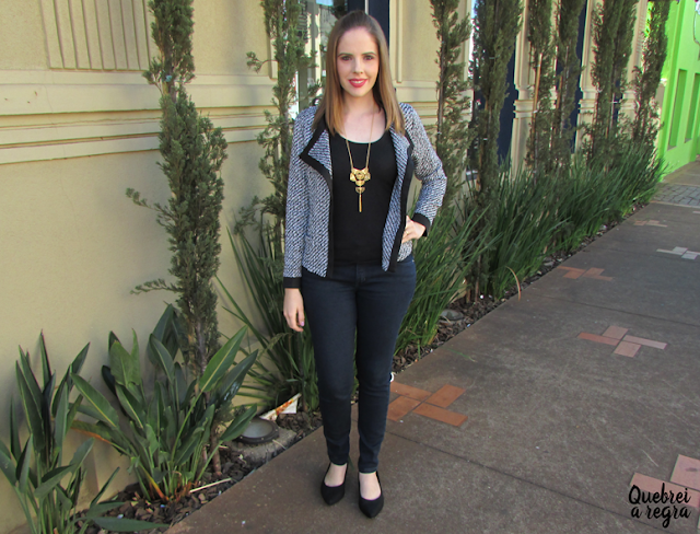 Look do dia: Blazer assimétrico da Sammydress