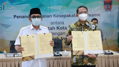 Pemko Padang - Bank Syariah Indonesia Tandatangani Nota Kesepahaman