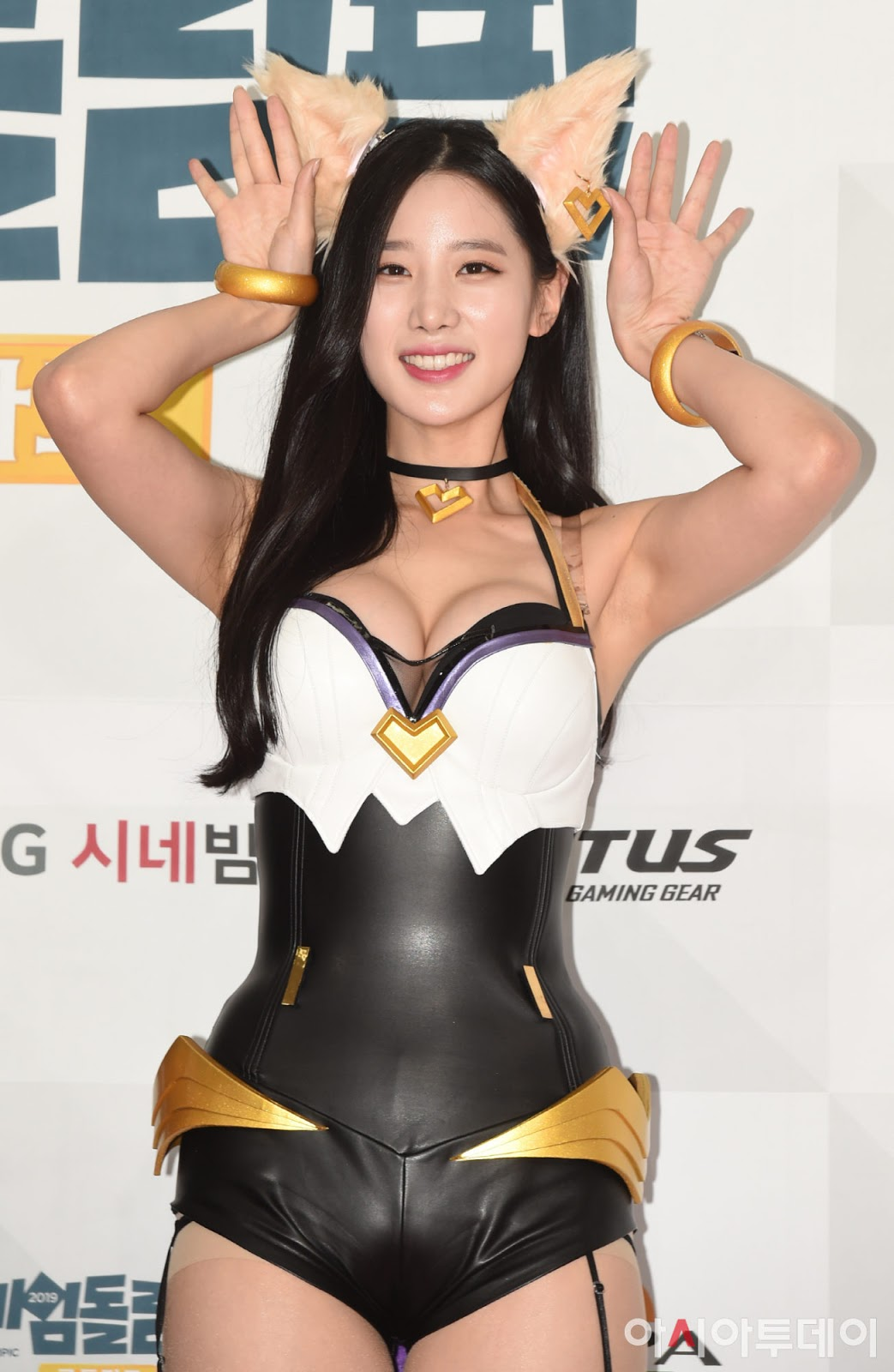 Berry Good Johyun (조현) League of Legends Ahri Cosplay at the Gamed Olympic event on 17 June 2019.