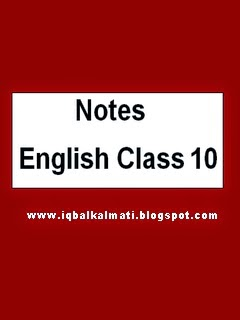 English X 10th Class Notes Pdf Download