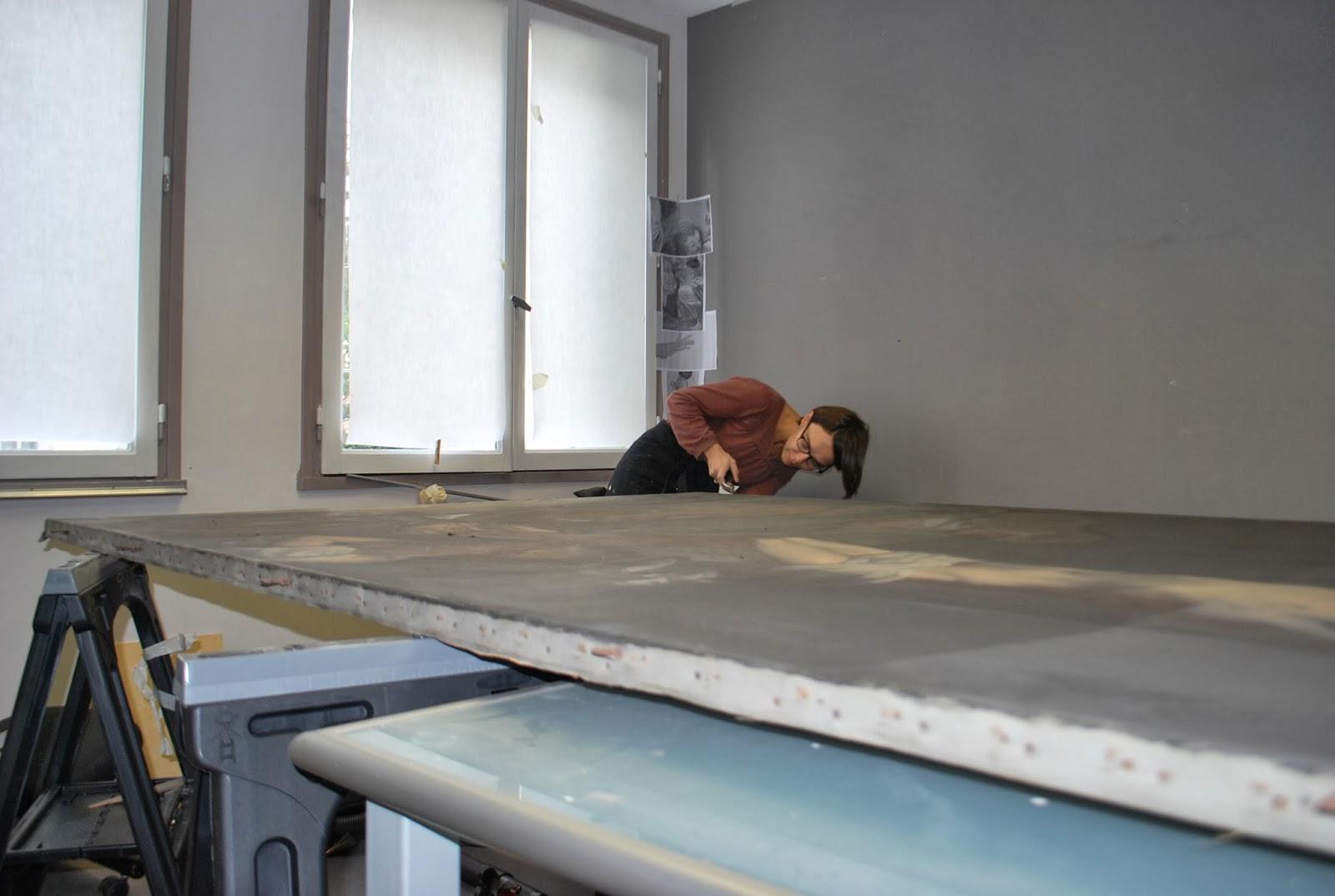 Coloriste St Martin De Seignanx visite d'atelier : restauration d'oeuvres d'art: la