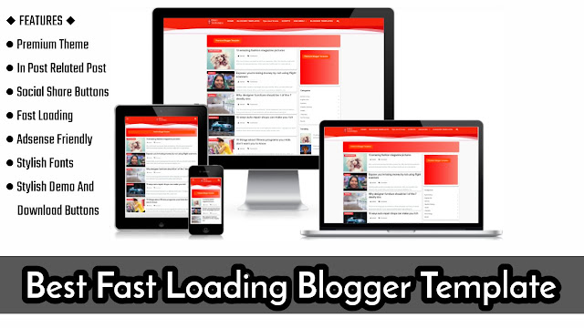 best fast loading blogger template