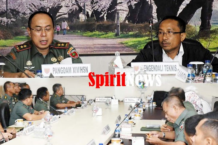 Pangdam XIV/Hasanuddin Membuka Entry Meeting Dengan BPK RI di Makodam Makassar