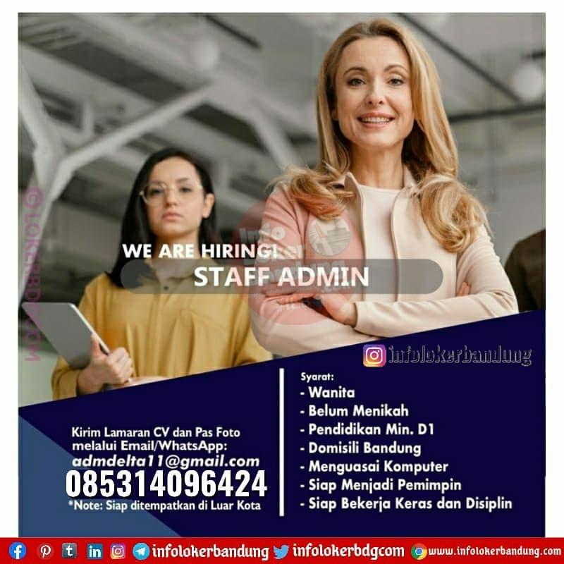 Lowongan Kerja Staff Admin April 2021