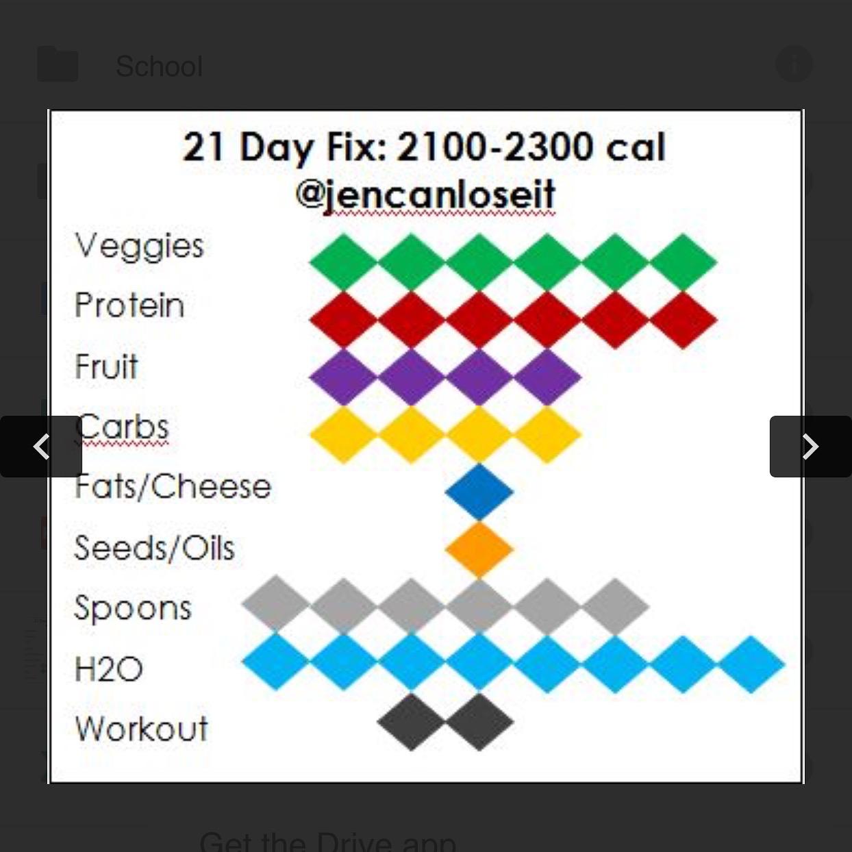 Jencanloseit 21 Day Fix Tally Sheets