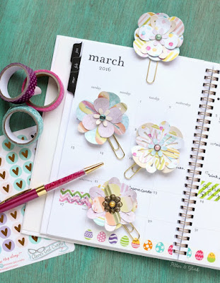 How to Make Sparkly Cupcake Planner Clips