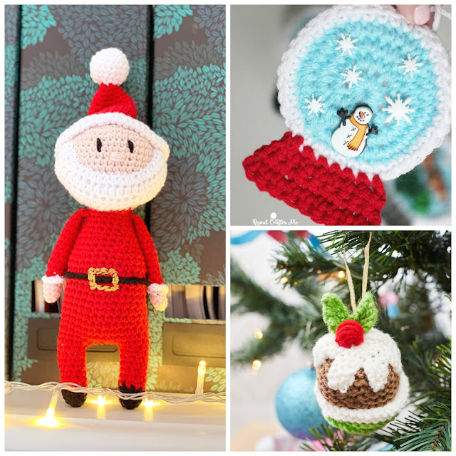 Crochet Christmas Ornaments – free patterns