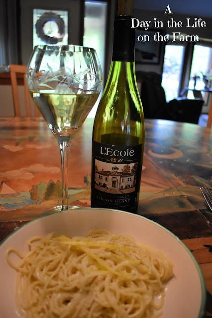 L'Ecole Chenin Blanc with Spaghetti al Limone