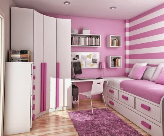 Pink Color Teen Bedroom Theme