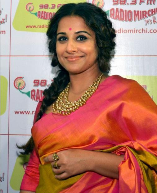 Vidya Balan Gold Designer Necklace