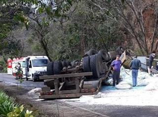 Motorista de Canoinhas sofre acidente em Arroio Trinta