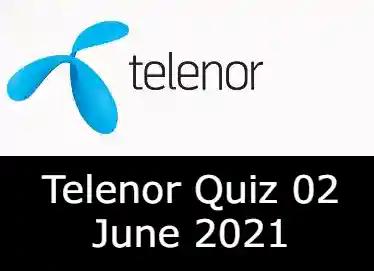 2 June Telenor Answers Today   Telenor Quiz Today 2 June 2021