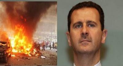 #عاجل  كيف نجى #بشار_الأسد من محاولة إغتياله اليوم بعشر سيارات مفخخة في #سوريا
