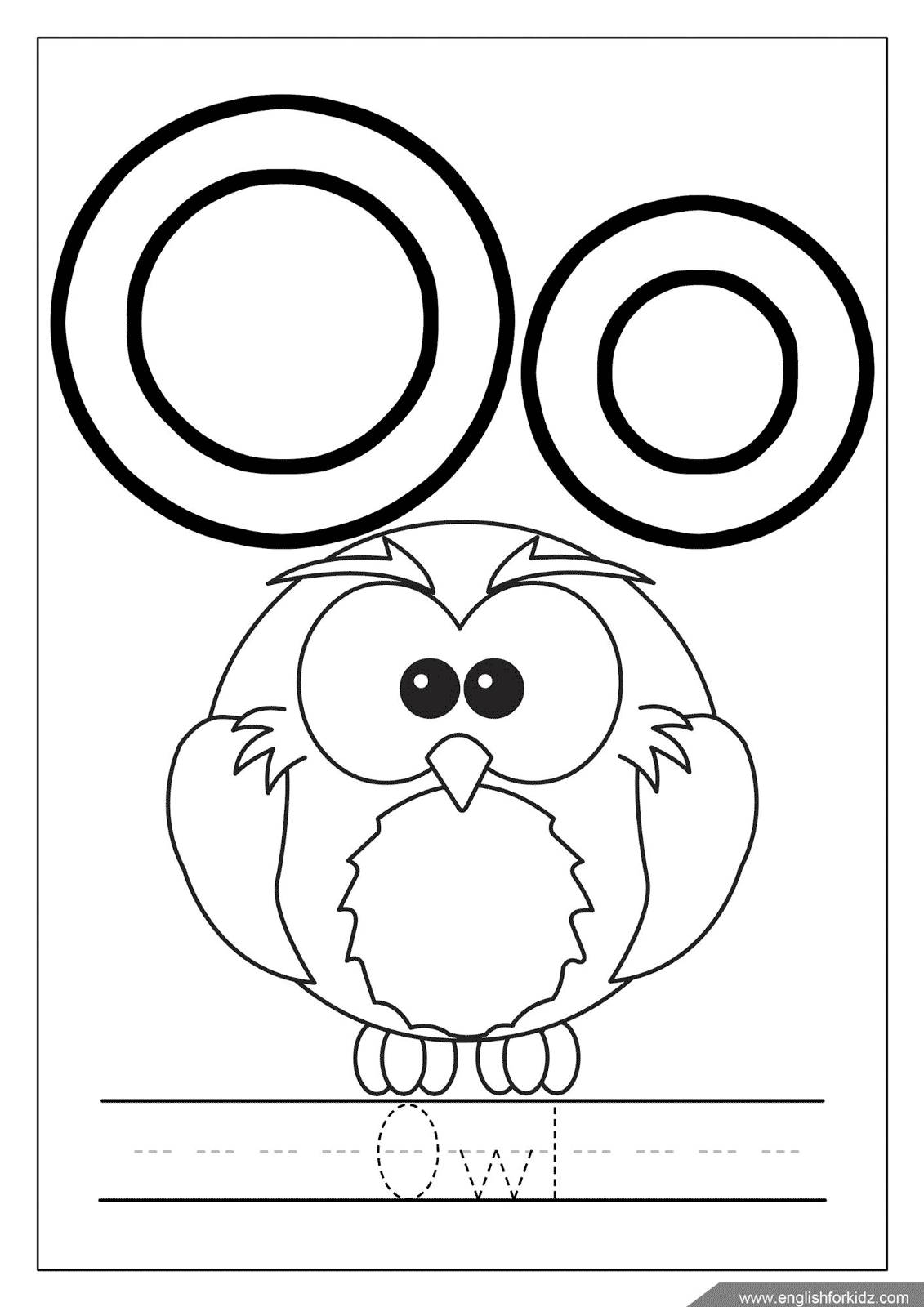 Letter O Worksheets Flash Cards Coloring Pages