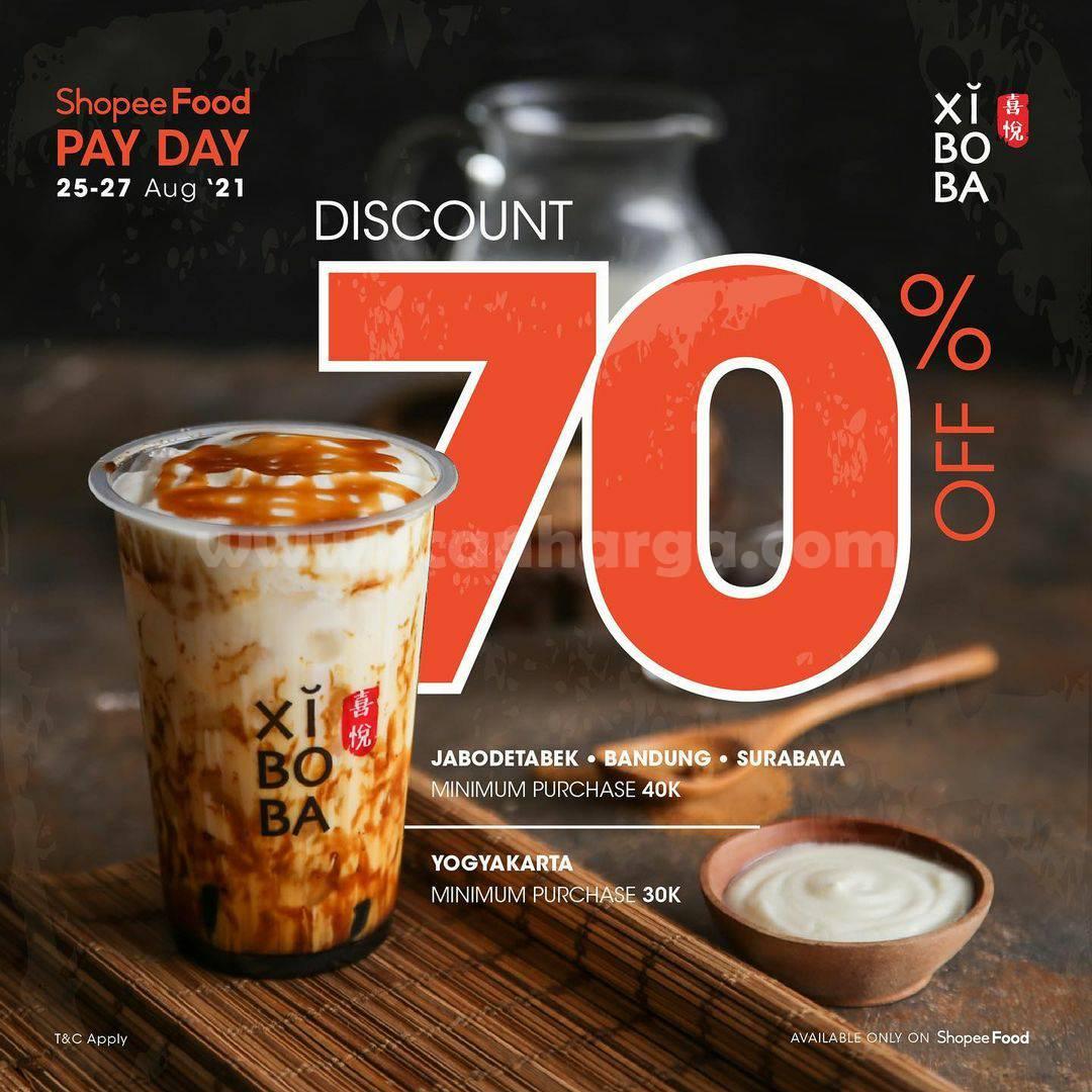 Xiboba Payday Promo Diskon hingga 70% via ShopeeFood