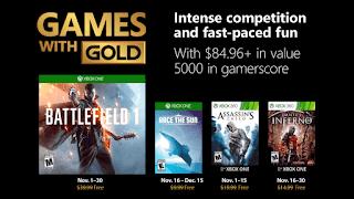 Games with Gold: Δείτε τα δωρεάν παιχνίδια του Νοεμβρίου