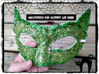 Glitter cat halloween mask