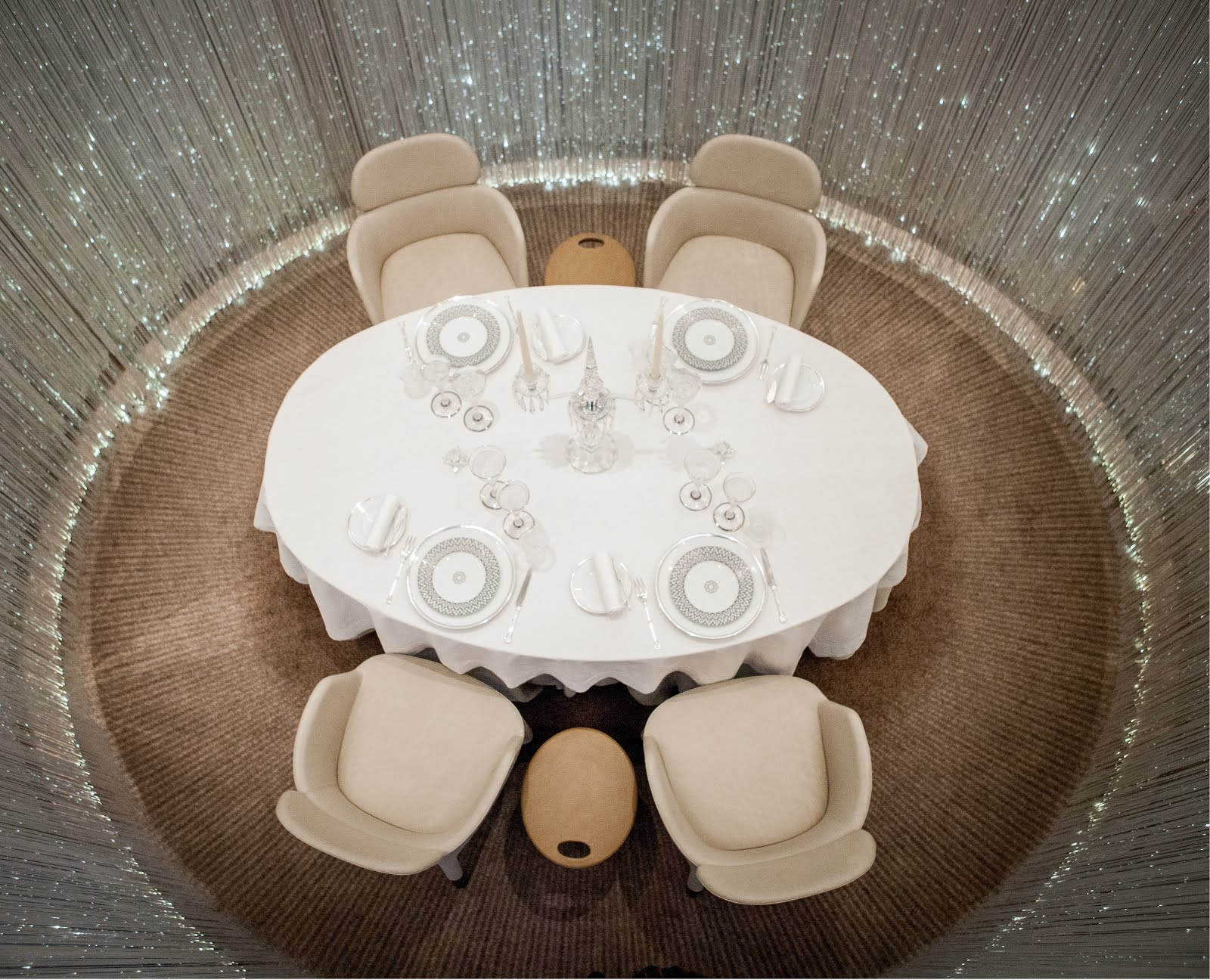 3 Michelin starred lunch at restaurant Alain Ducasse, the Dorchester. Private dining
