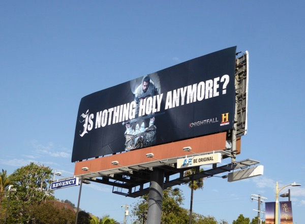 Knightfall series launch billboard