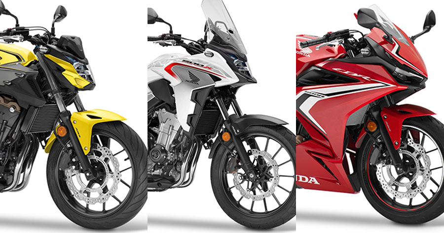 Honda is reportedly developing and preparing to launch three new 500 Series models – the CB500X, CBR500R and CB500F – in 2022, after the EU-related documents have been filed.  As of now, we may not know for sure whether this change. Will it be a change in an All New, new design, or will it be a minor change in some details? because according to the information reported from that document The engine remains a 471cc inline-twin engine producing 47bhp and 43Nm of torque.   The weight of the CB500F and CBR500R 2022 appears to remain the same, but the CB500X 2022 appears to have increased by 2 kg or more. And it is possible that the tank capacity will be increased to 17.7 liters. Interestingly, the overall width of the CB500X and CBR500R 200 will increase by 5 mm, while the CB500F will increase by a patch. 10 mm, which may mean wider handlebars. But the length and height remain the same. This information seems to point in the form of minor change.   But, according to Cycle World's analysis, the 2022 version of the Honda 500 Series will get some improvements in brakes, wheels and suspension. So it's still possible that we might see an All New change as well.   We have to wait to follow each other. That in the end, will it be Minor Change or All New? It is expected that it will not be too long to wait, such as at the end of 2021, we may be able to see the real life of these 3 new models.