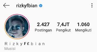 Nama Akun Instagram Rizky Febian Yang Asli