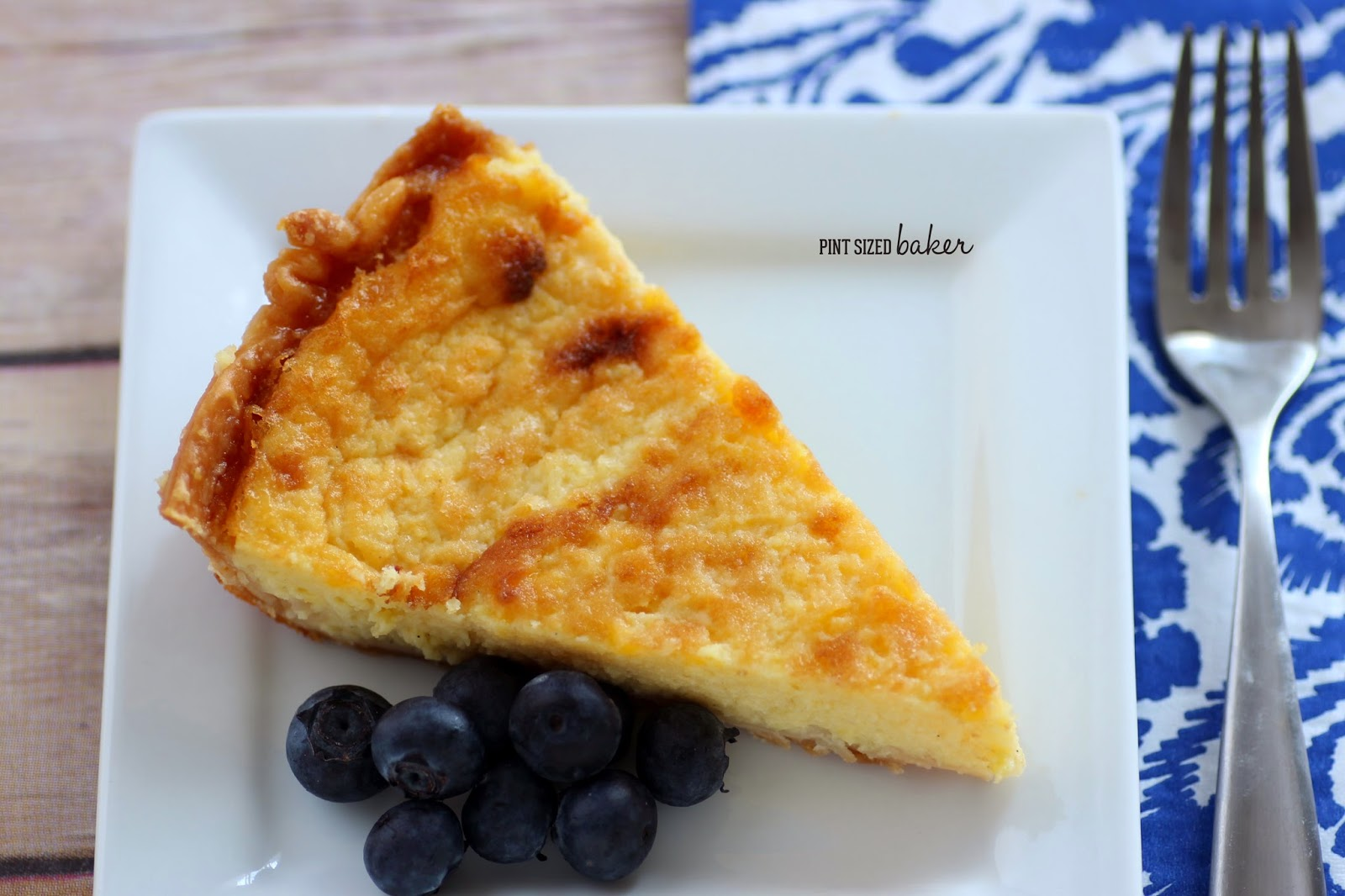 Traditional Buttermilk Pie. Smooth, creamy, and delicious!
