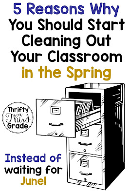 Teachers need to clean up and get organized. Learn five reasons why you should not put this off until June. Work on organizing your classroom this spring!