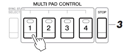 Cara Memainkan multipad Pada Yamaha PSR
