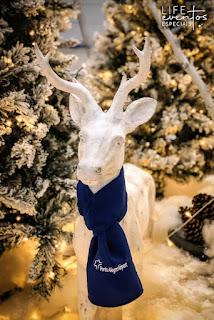 decoracao de natal desenvolvida para o porto alegre airport para as áreas de check-in domestico e internacional com tematica de floresta nevada por life eventos especiais
