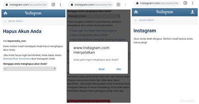 Cara Menghapus Akun Instagram Permanen Lewat HP