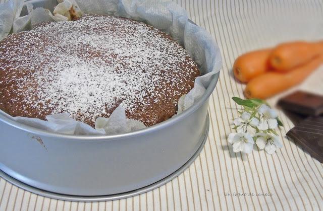 cocoa-carrot-cake, bizcocho-al-cacao-y-zanahoria