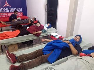 Warga Antusias Ikuti Donor Darah di DPC PD Medan, Burhanuddin Sitepu: Aksi Ini Bentuk Perjuangan Kemanusiaan Partai Domokrat