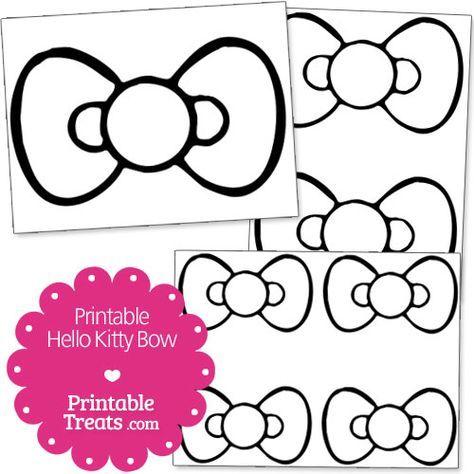 Descarga graits moños de Hello Kitty para imprimir