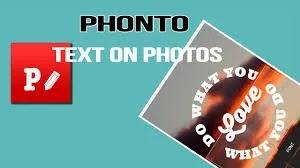 Phonto - Text on Photos  يتوفر أكثر من 200 خط لمحبى الكتابه على الصور