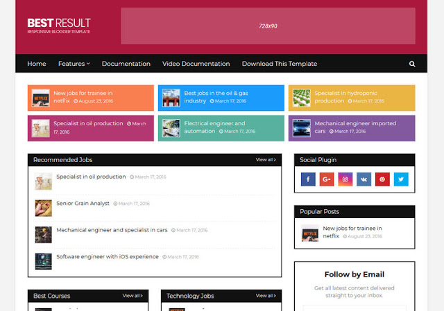 Best Result mobile friendly blogger template