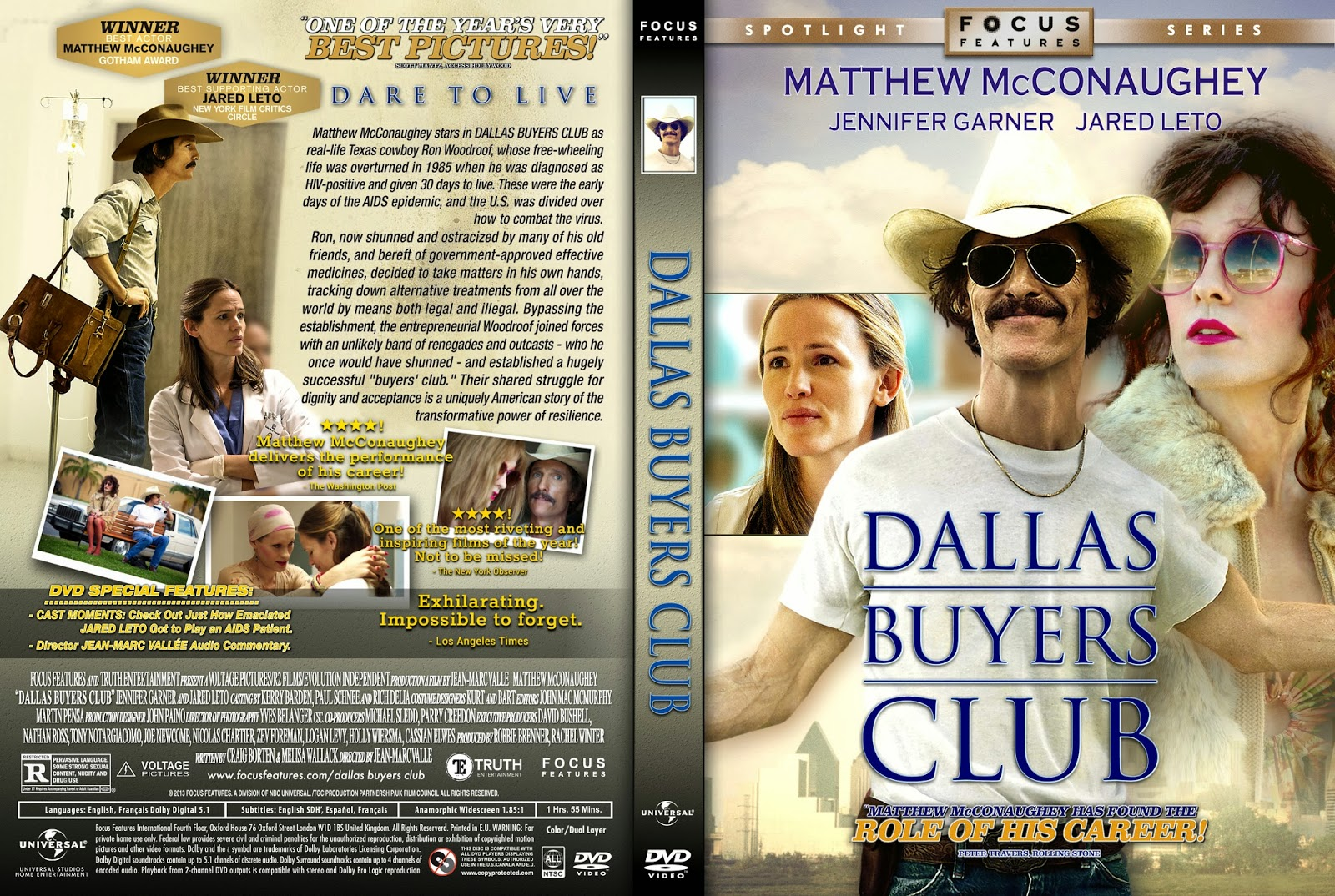 DVD COVERS AND LABELS: Dallas Buyers Club DVD COVER  Dallas