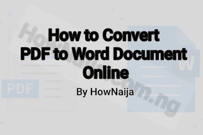 How to Convert PDF to Word Document Online
